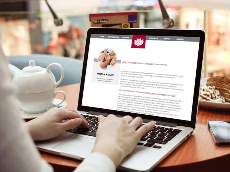 Redesign responsive website / webdesign voor Acupunctuur Duiven - behandelpagina
