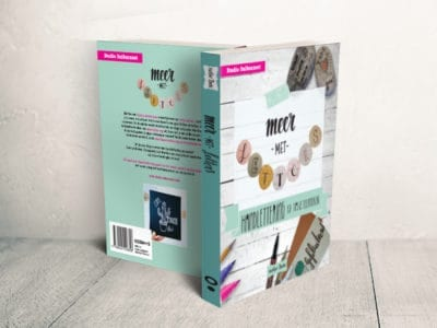 Boekomslag ontwerpen Meer met letters
