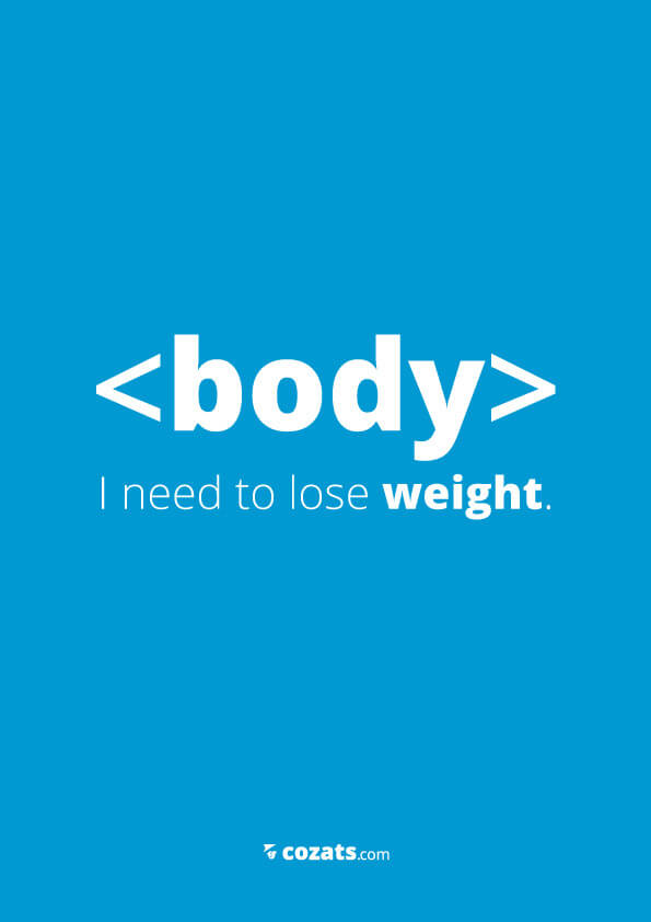 voor webdesigners - body i need to lose weight