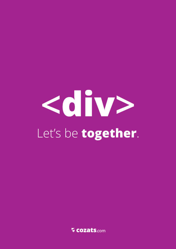 voor webdesigners - div let's be together