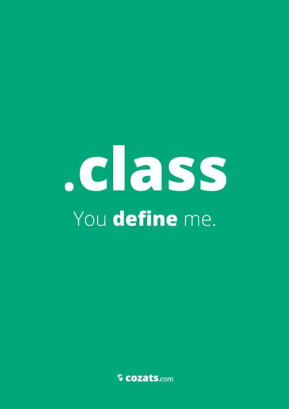 voor webdesigners - class you define me