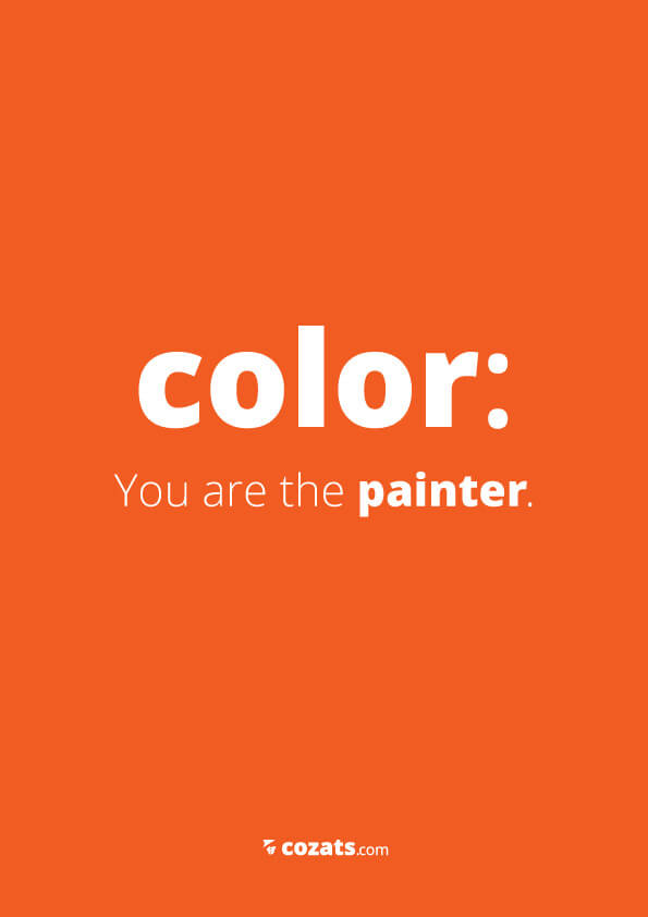 voor webdesigners - color you are the painter