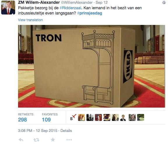 Prinsjesdag 2015 - reclame inhaker Ikea