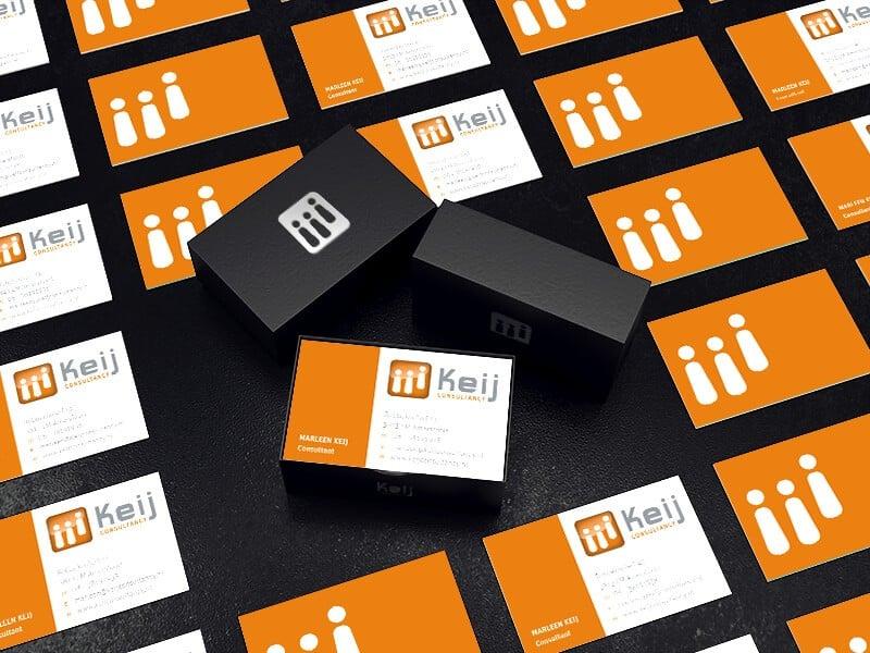 Visitekaartjes ontwerp Keij Consultancy