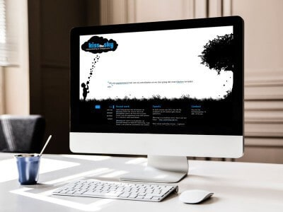 Website ontwerpen / webdesign voor kissthesky - homepage