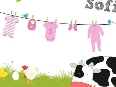 ontwerpen geboortekaartje Sofie afbeelding