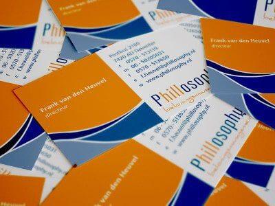 Visitekaartje ontwerp voor Phillosophy Beloningsmanagement
