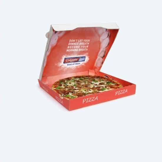 creatieve verpakkingen pizza