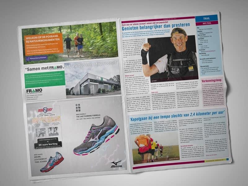 ontwerpen en opmaak krant Posbankloop Velp