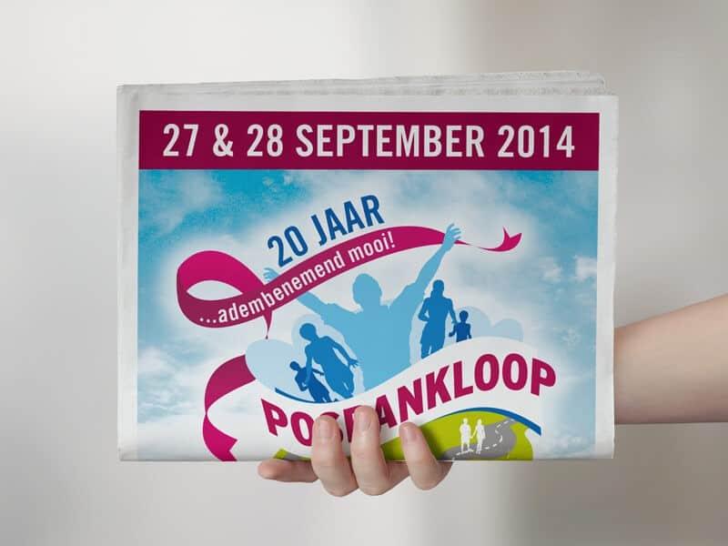 Portfolio: ontwerpen en opmaak krant Posbankloop Velp
