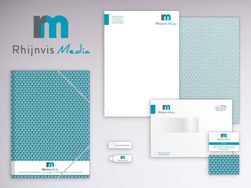 Huisstijl ontwerp Rhijnvis Media