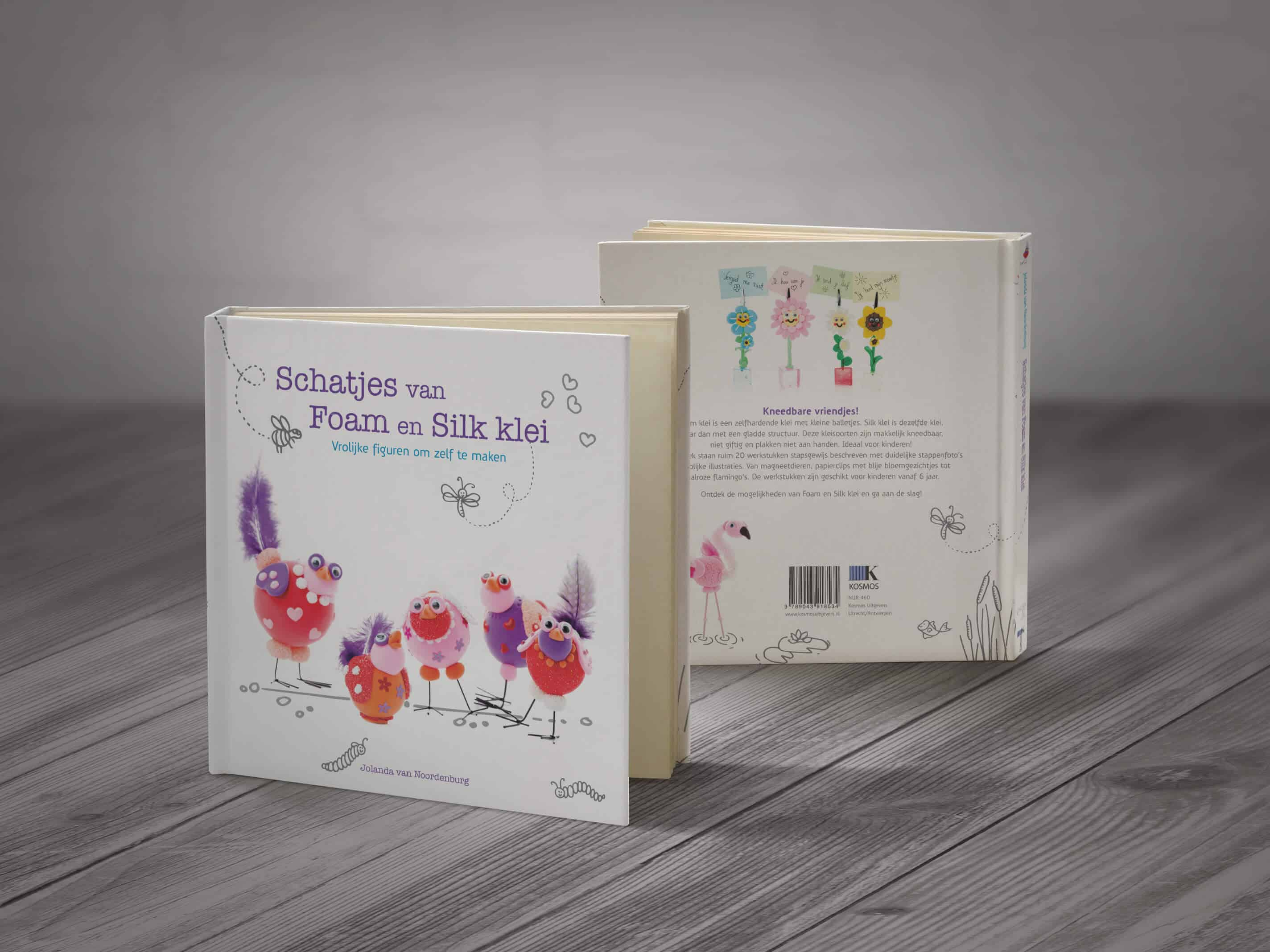 Schatjes van foam en silk klei boekomslag ontwerp