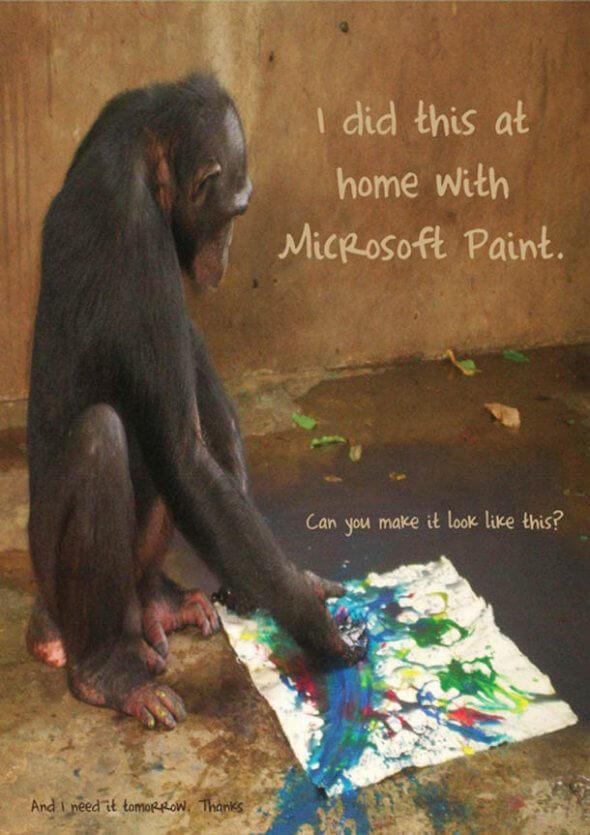 Bizarre feedback paint