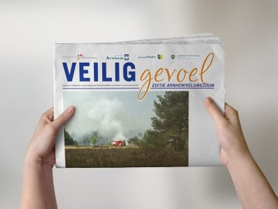 portfolio: ontwerpen en opmaak krant Veilig Gevoel VGGM