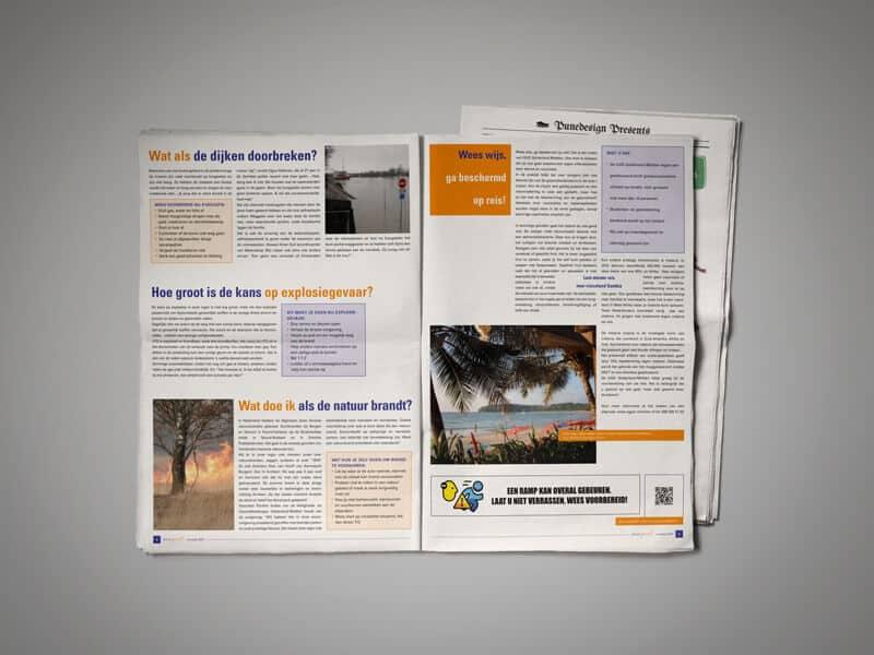 ontwerpen en opmaak krant Veilig Gevoel VGGM
