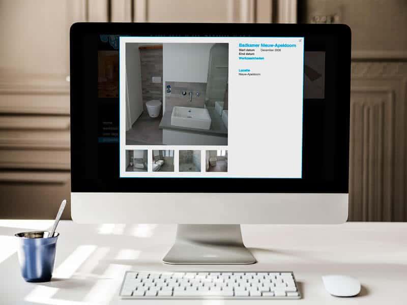 Website ontwerpen / webdesign voor Tegelzetbedrijf Gerard van Strien - projecten