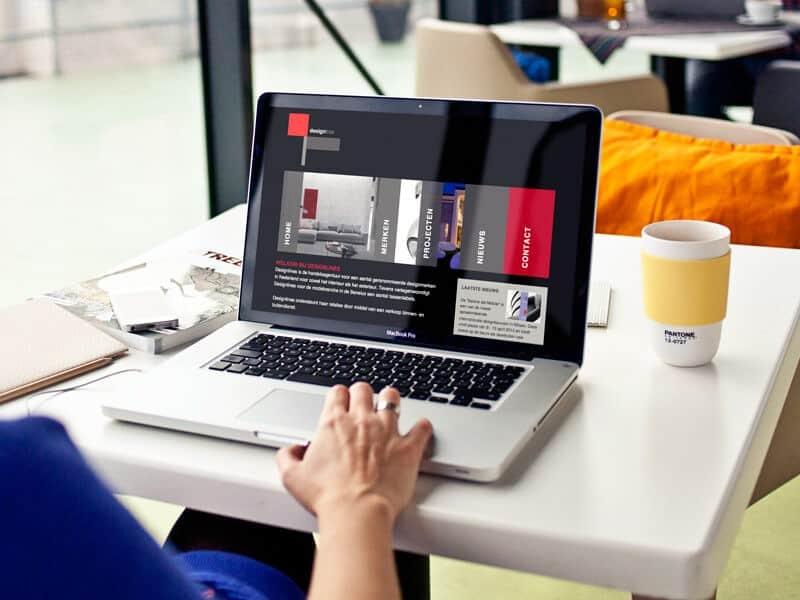Website ontwerp / webdesign voor Designlines - homepage