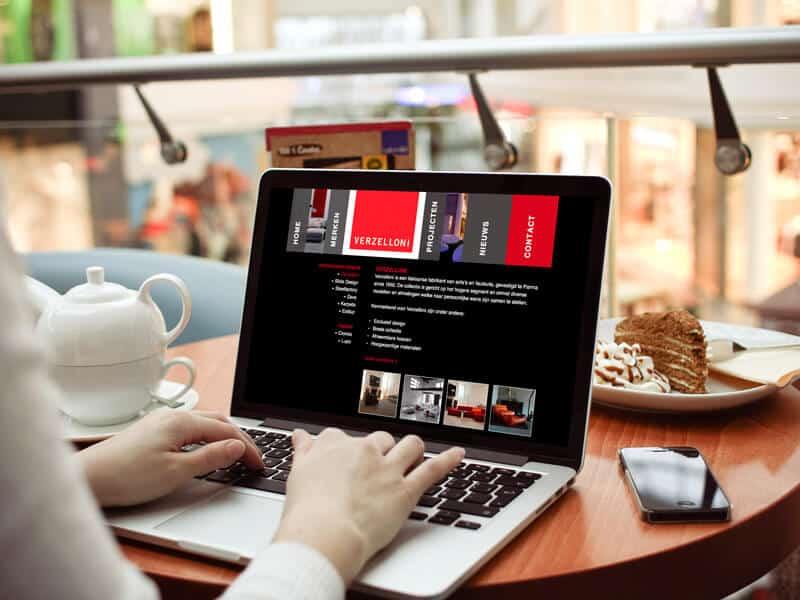 Website ontwerp / webdesign voor Designlines - projecten pagina