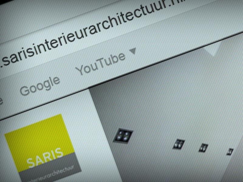 Website Saris Interieurarchitectuur - url